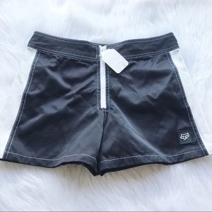 FOX women's DETOUR black & white shorts NWT Sm